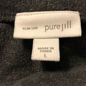 Pure Jill slim leg gray knit pant